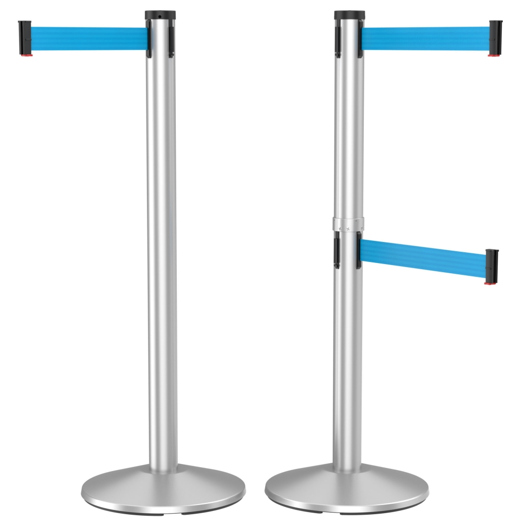 300 Series Retracta-Belt 10' Retractable Belt Crowd Control Stanchion