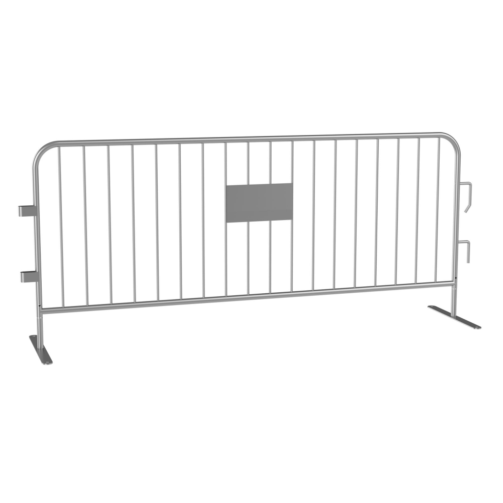 8' Long Galvanized Steel Barricade Bike Rack