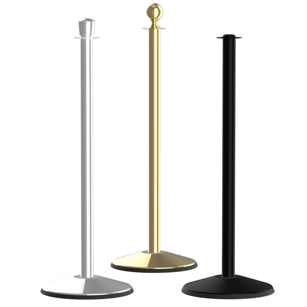 Prime Classic Post and Rope Crowd Control Stanchion