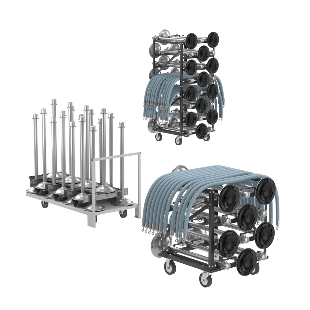 Classic Rope Stanchion Storage Carts