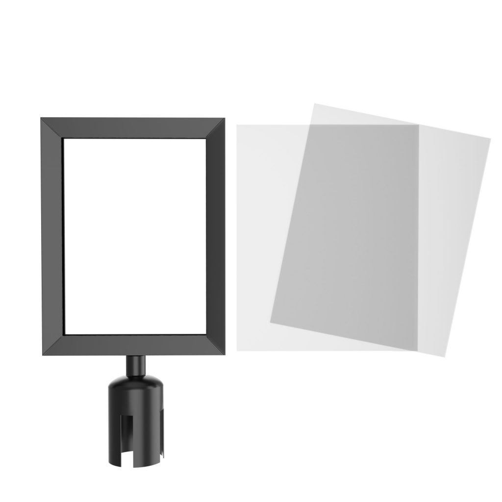 Prime HD Crowd Control Sign Frame with Adapter and Inserts