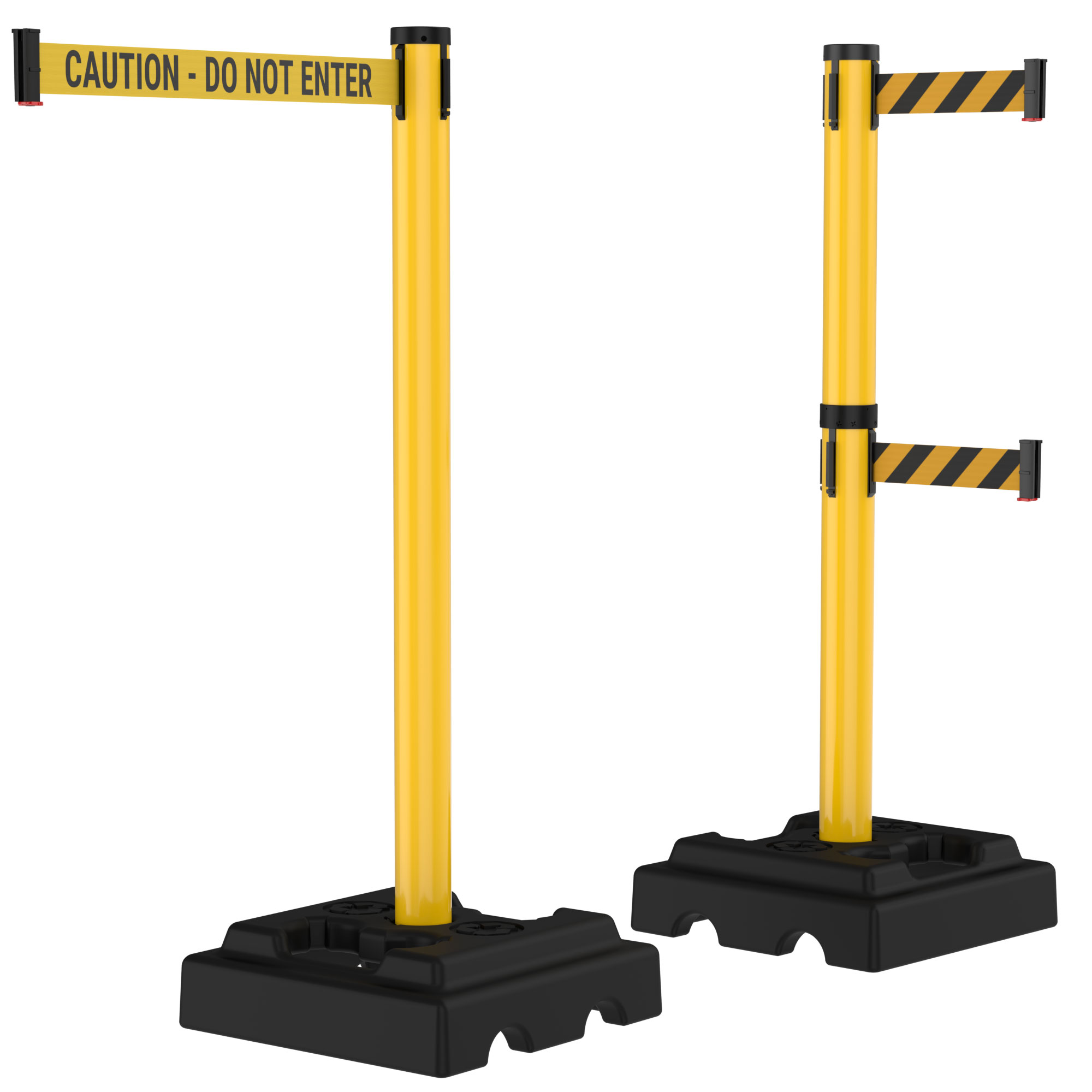 10' Retractable Belt Outdoor Utility Crowd Control Safety Stanchions