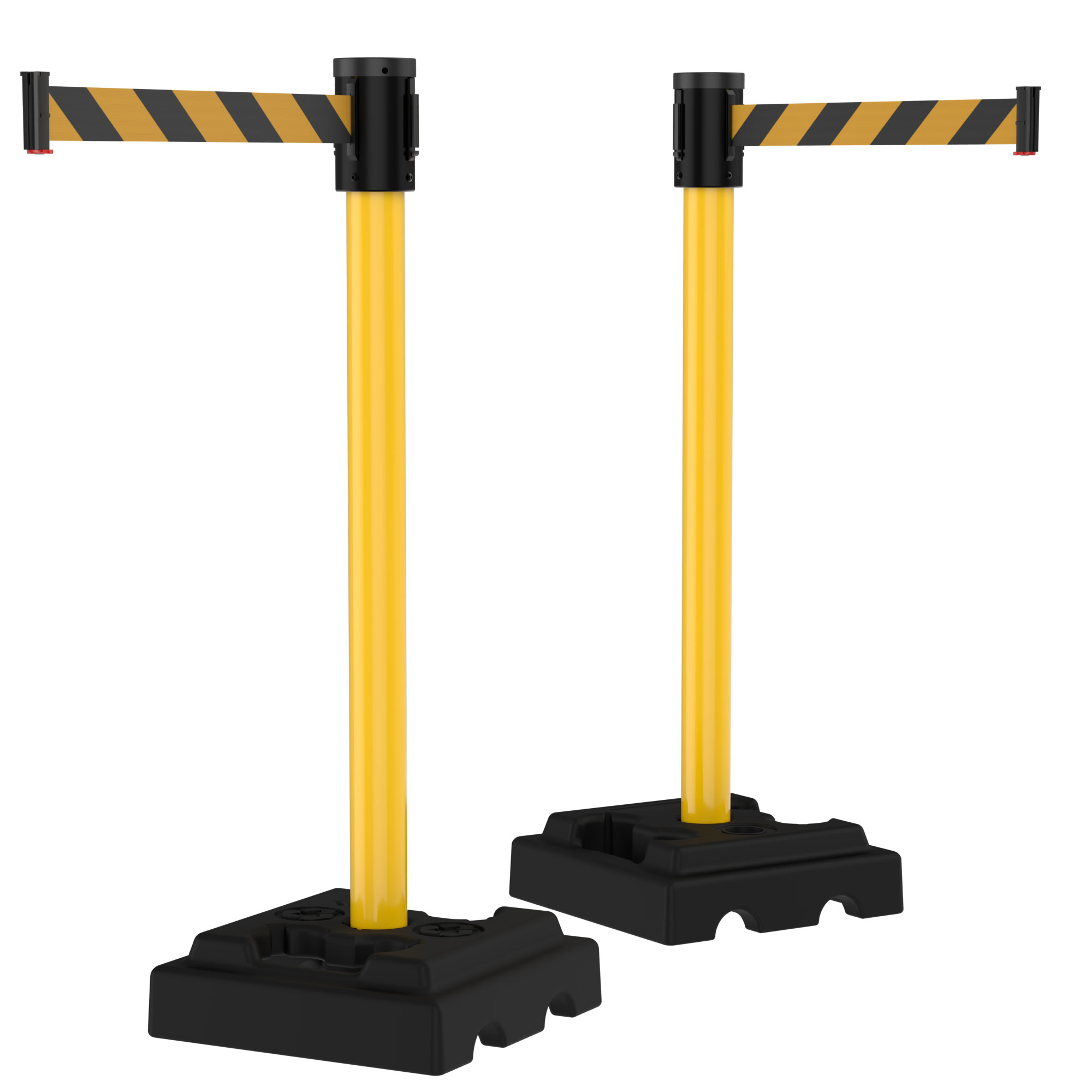 15' Retractable Belt Outdoor Utility Crowd Control Safety Stanchions