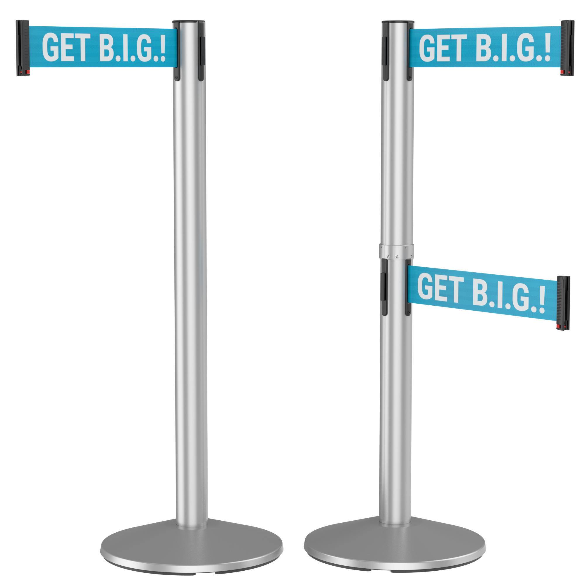 300 Series Retracta-Belt 15' Retractable Belt Crowd Control Stanchion