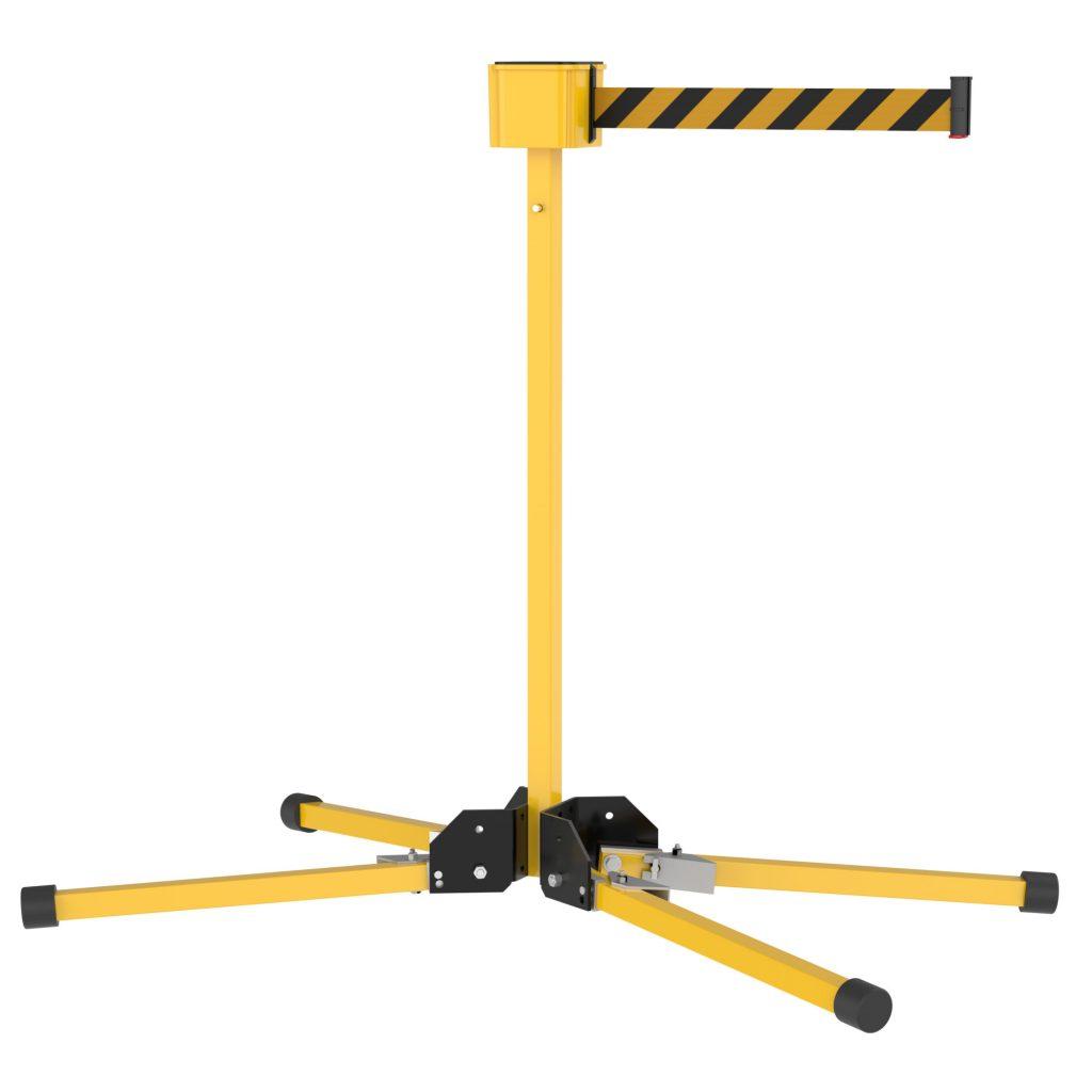 SM412 Stand Mount 30' Long Retractable Belt Outdoor Barrier