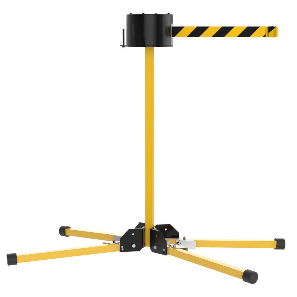 SM6500 Stand Mount Extra Long 65' Retractable Belt Outdoor Barrier