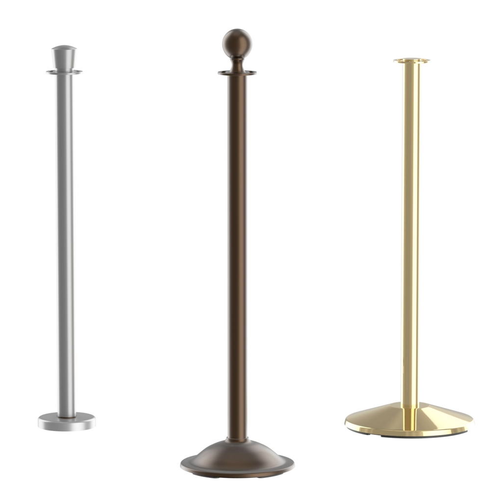 Classic Crowd Control Rope Stanchion Posts