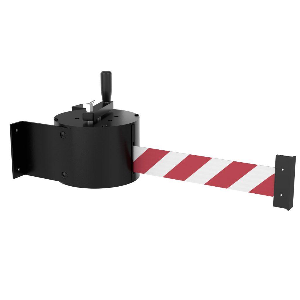 WM5000 Manual Crank Wall Mount Belt Barrier