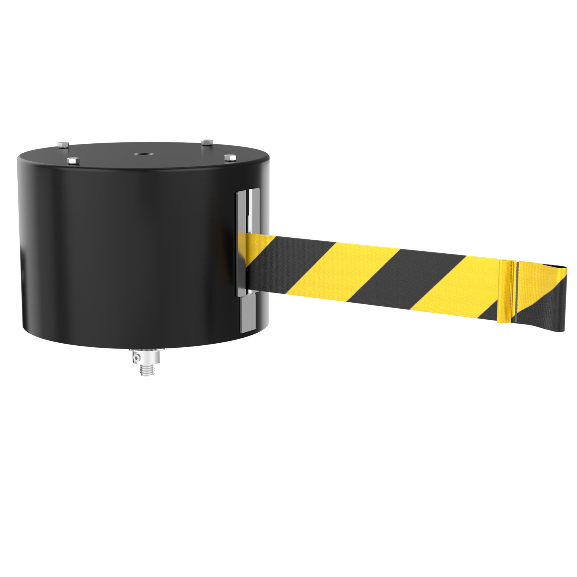 WM6500 65' Extra Long Retractable Belt Wall Mount Swivel Barrier