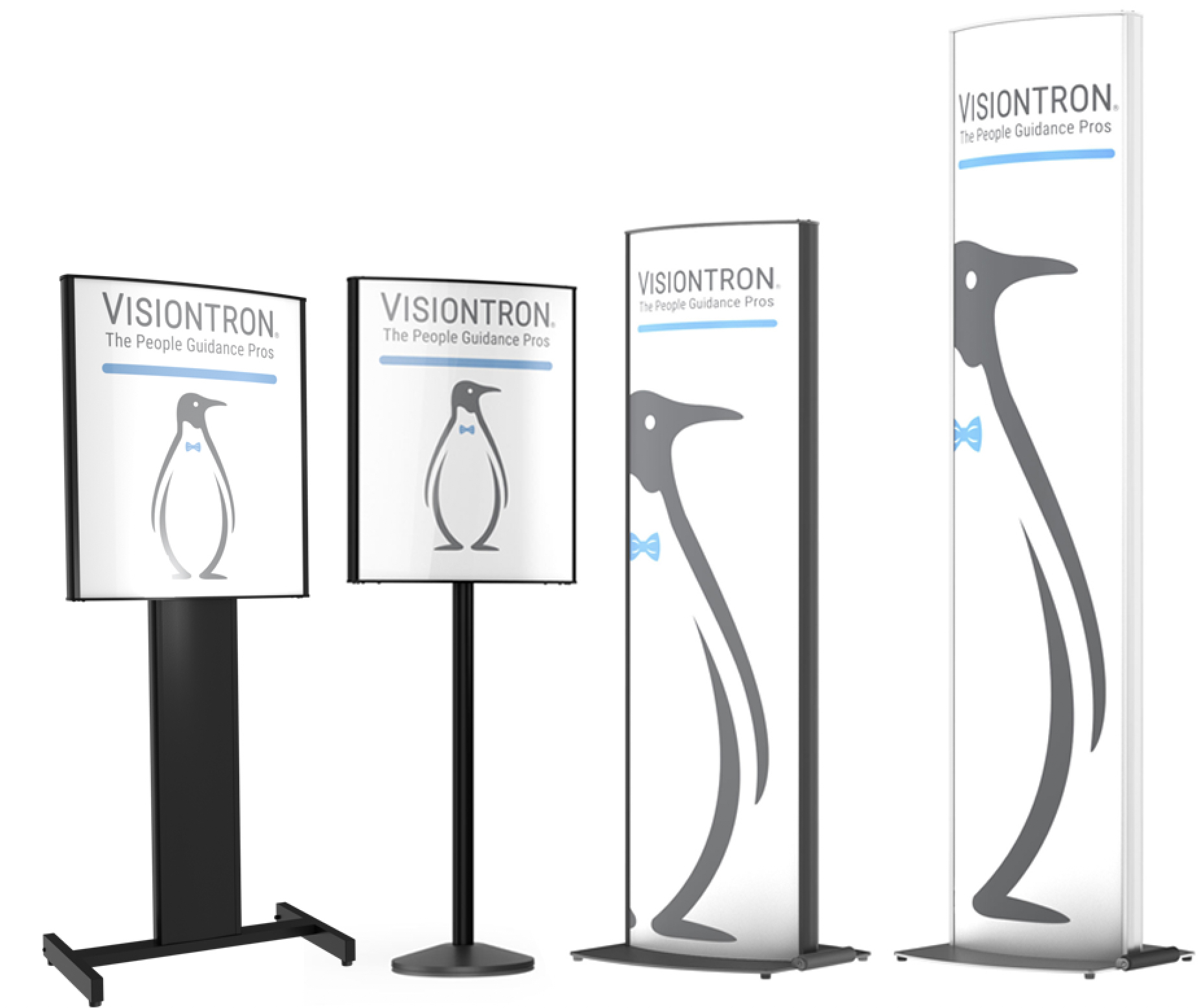 Visiontron Introduces VERSA-STAND — A New Line of Sign Stands for Airports, Stadiums, Casinos, Banks, Restaurants and Hotels