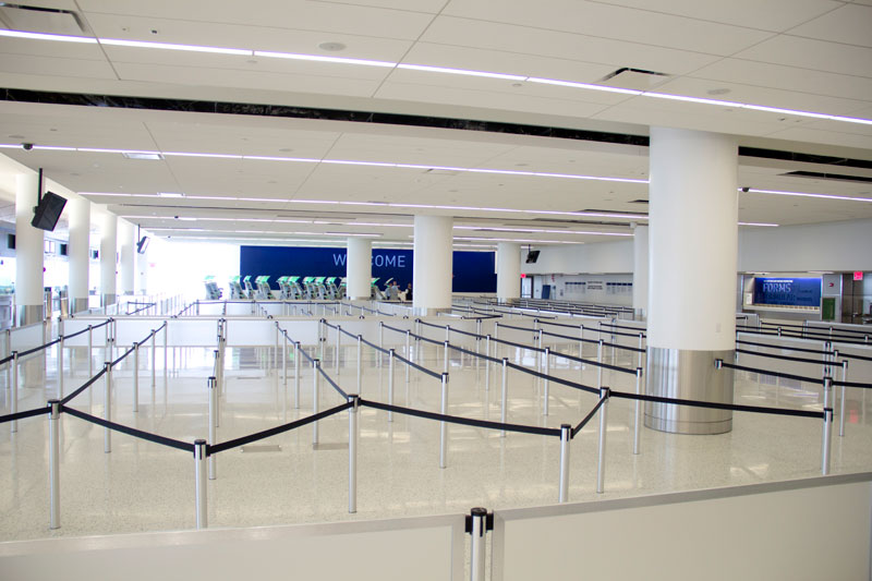 JetBlue Terminal 5 Customs and Border Area at JFK Airport in New York City – T5i